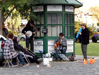 Street Jazz in the Recoleta, Buenos Aires, Argentina